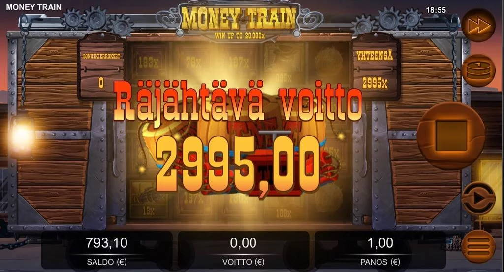 Money Train Big win picture by Jaakko11 8.3.2020 2995e 2995X