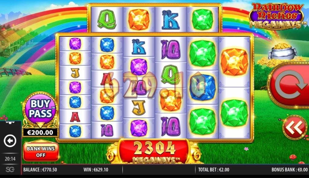 Rainbow Riches Megaways Big win picture by Jaakko11