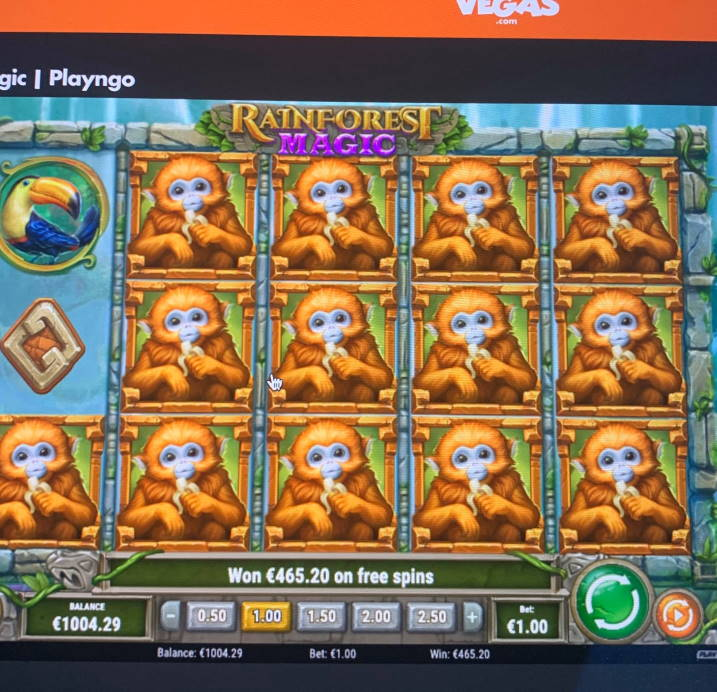 Rainforest Magic Big win picture by timmir84 15.3.2020 465.20e 465X Slotty Vegas