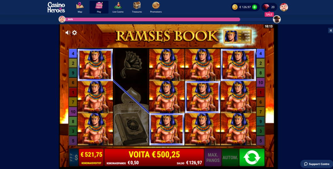 Ramses Book Big win picture by henrimikaell 18.2.2020 500.25e 1001X Casino Heroes