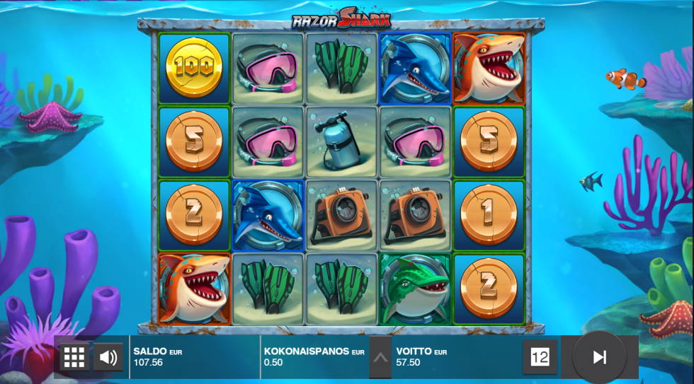 Razor Shark Big win picture by SomebodyCamper 15.2.2020 57.50e 115X