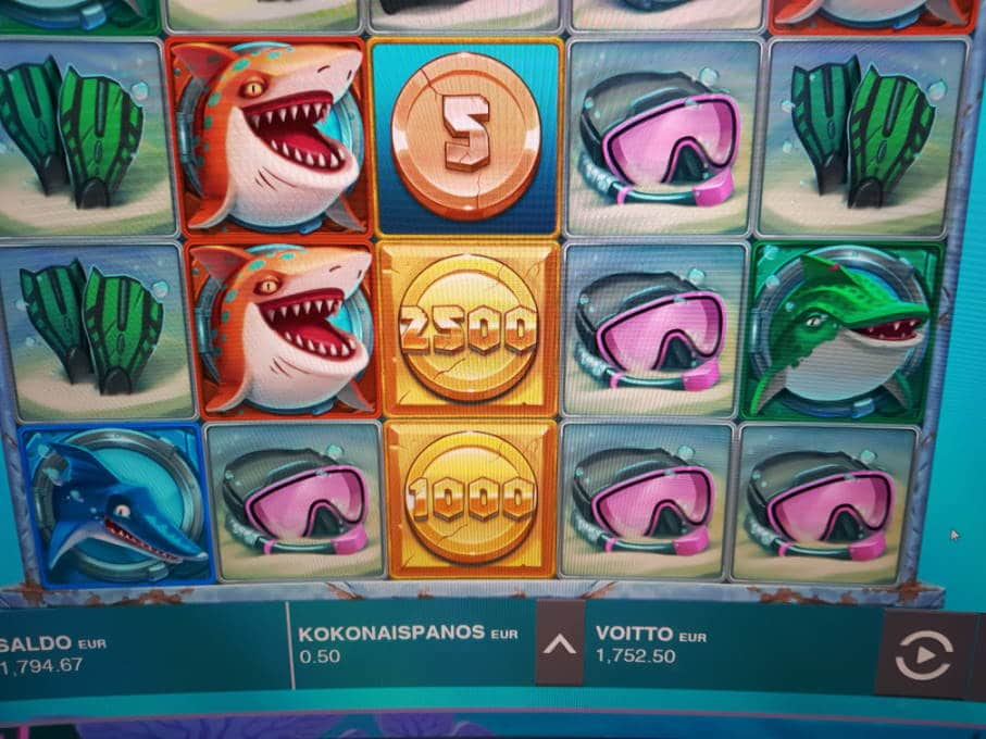 Razor Shark Big win picture by Tombha 8.3.2020 1752.50e 3505X
