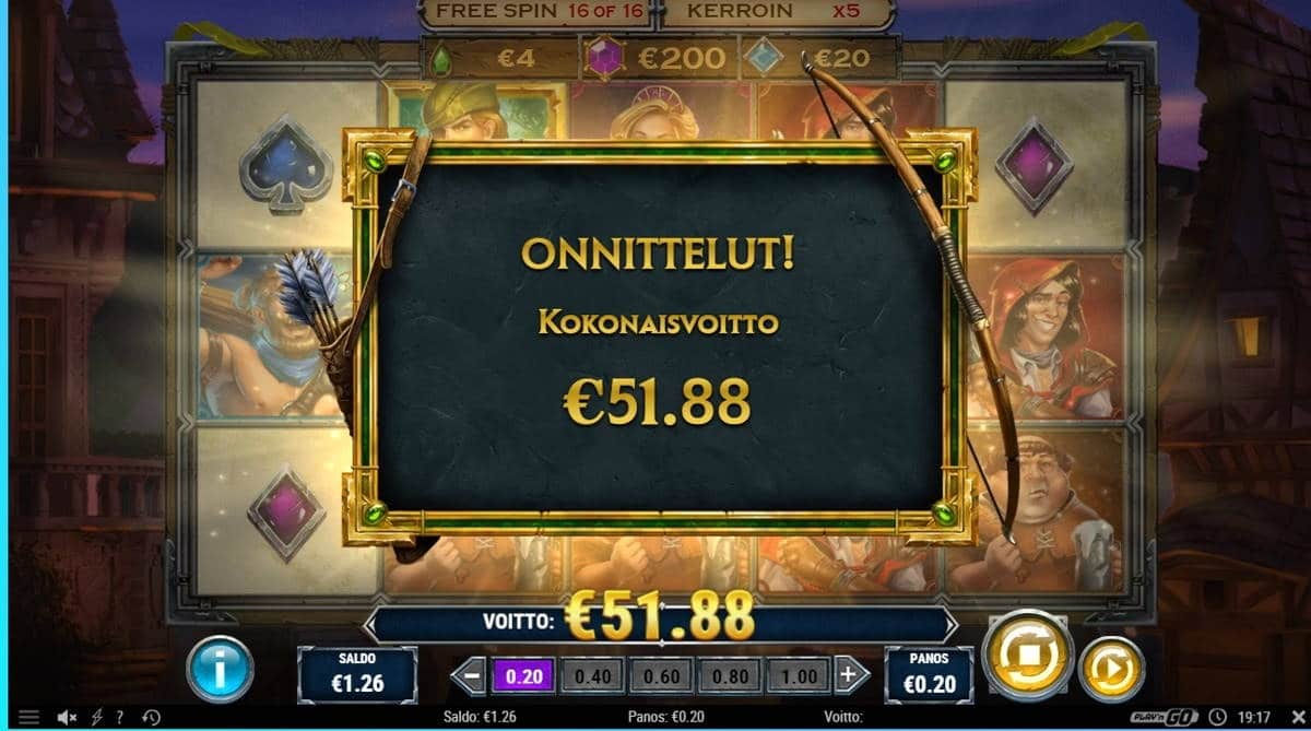 Riches of Robin Big win picture by dj_niemi 19.3.2020 51.88e 259X