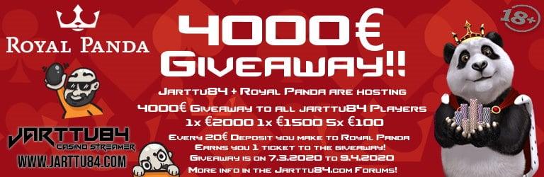 Jarttu84 Royal Panda Giveaway