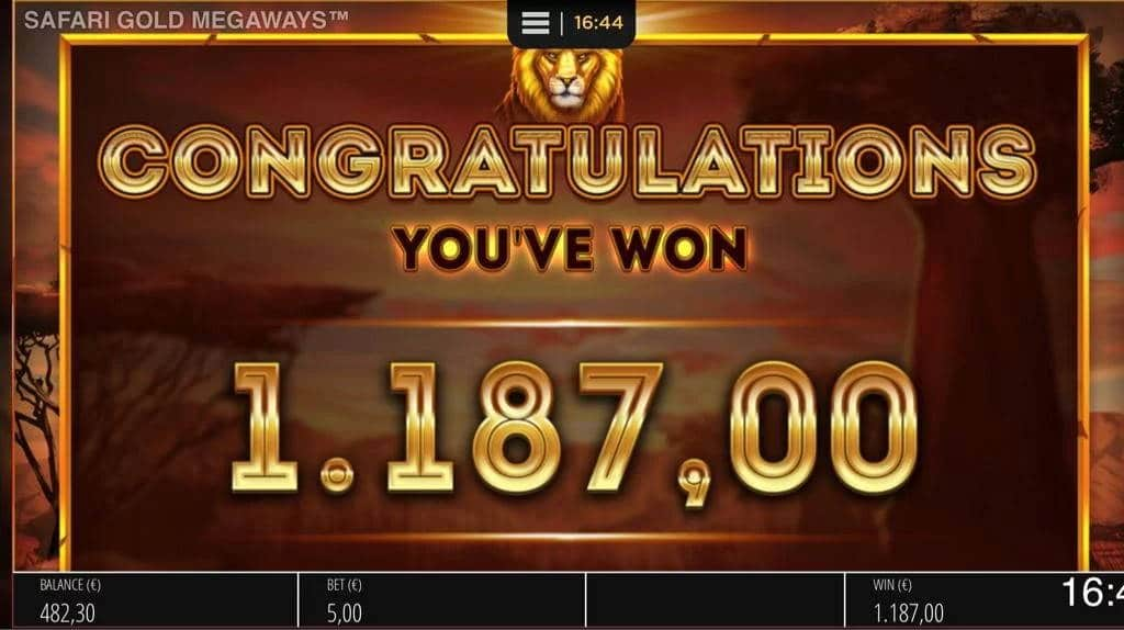 Safari Gold Megaways Casino win picture by Jaakko11 30.3.2020 1187e 238X