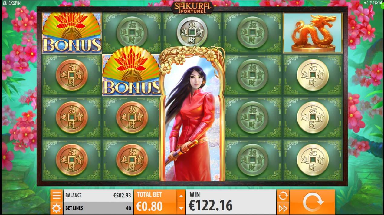 Sakura Fortune Big win picture by Mrmork666 3.3.2020 122.16e 153X Jinni Casino
