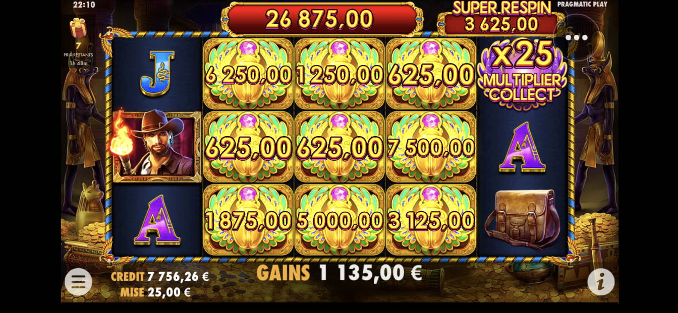 Scarab Quuen Casino win picture by Wallystayfunnytv 27.3.2020 26875e 1075X
