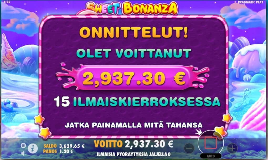Sweet Bonanza Big win picture by Wile 23.1.2020 2937.30e 2448X