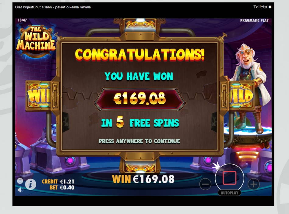 The Wild Machine Big win picture by MrMork666 17.3.2020 169.08e 423X