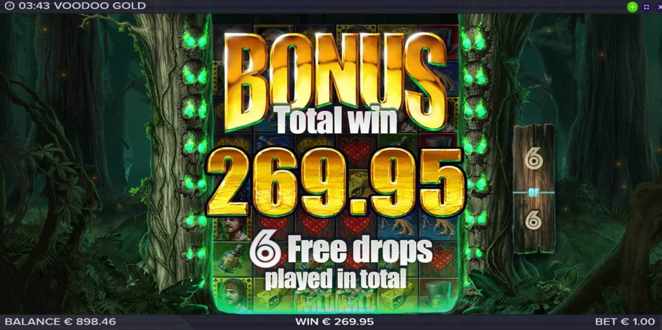 Voodoo Gold Big win picture by Mrmork666 3.3.2020 269.95e 270X Jinni Casino