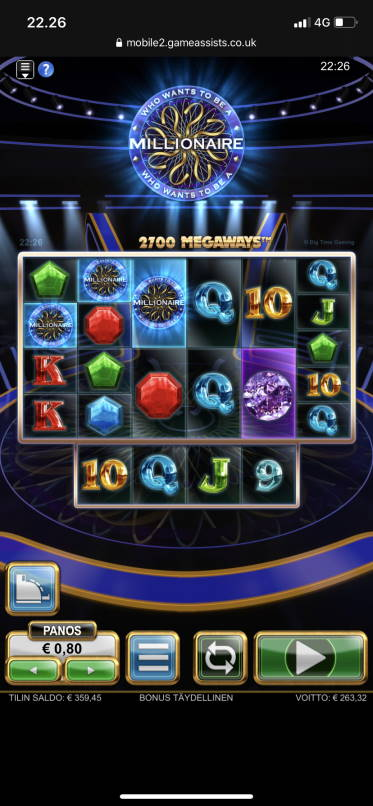 Who Wants to be a Millionaire Big win picture by vesselis 20.2.2020 263.32e 329X