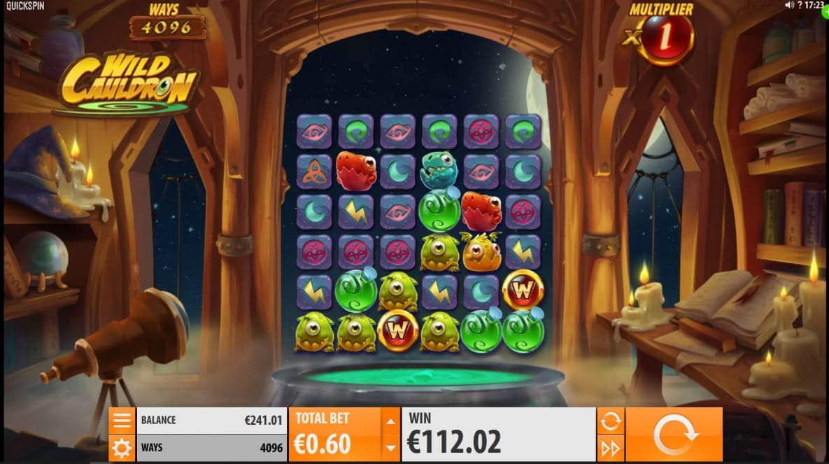 Wild Cauldron Big win picture by Mrmork666 3.3.2020 112.02e 197X Jinni Casino