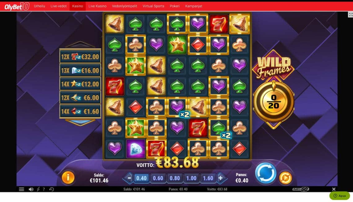 Wild Frames Big win picture by MrMork666 10.2.2020 83.68e 209X OlyBet