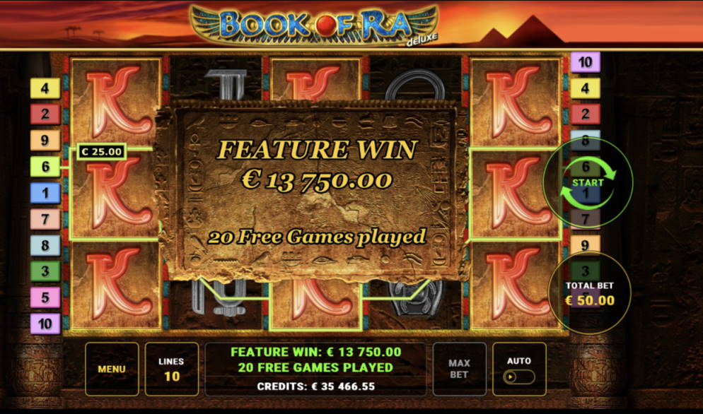 Book of Ra Casino win picture by aki_2772 2.4.2020 13750e 275X