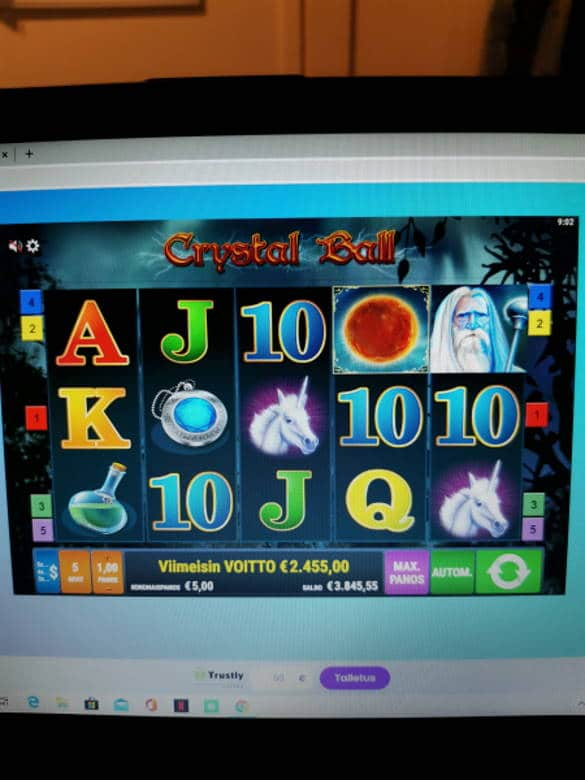 Crystal Ball Casino win picture by Jyrkkenkloppi 16.4.2020 2455e 491X Wildz