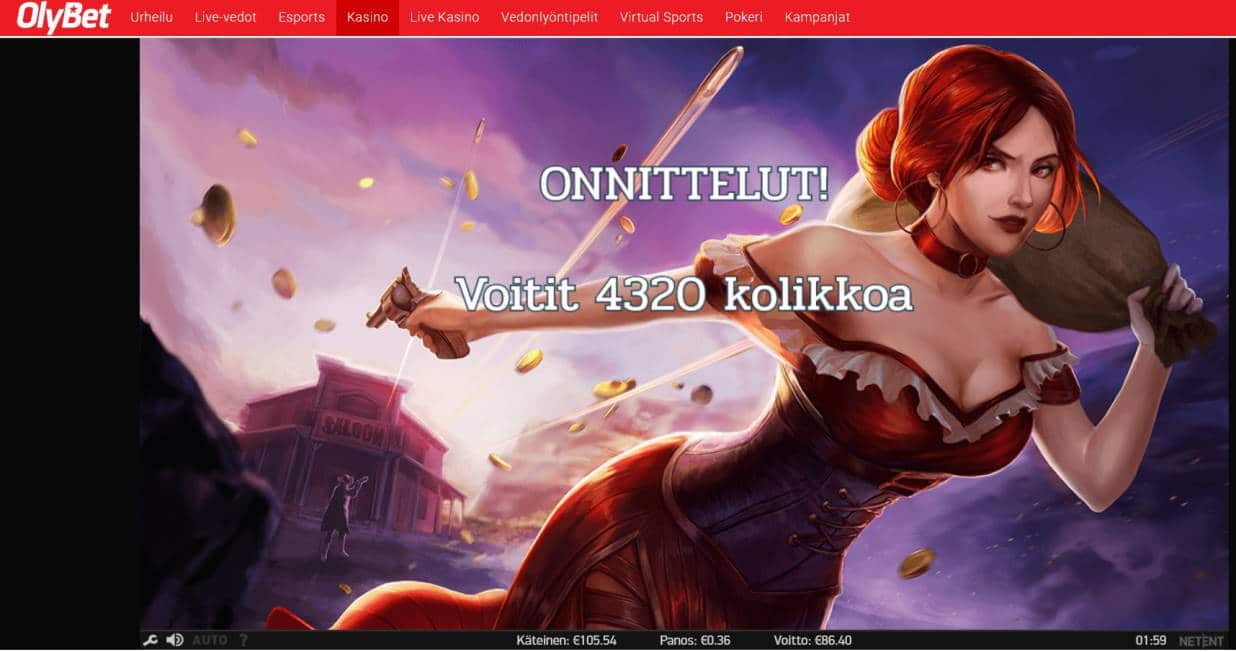 Dead or Alive 2 Casino win picture by Mrmork666 24.4.2020 86.40e 240X OlyBet