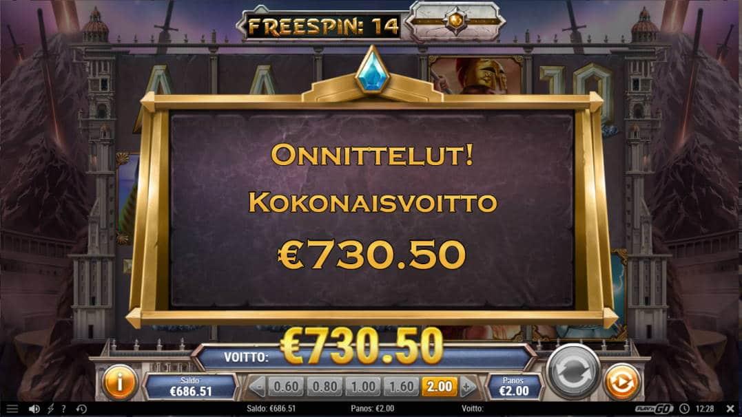 Divine Showdown Casino win picture by Morrimoykky 29.4.2020 730.50e 365X