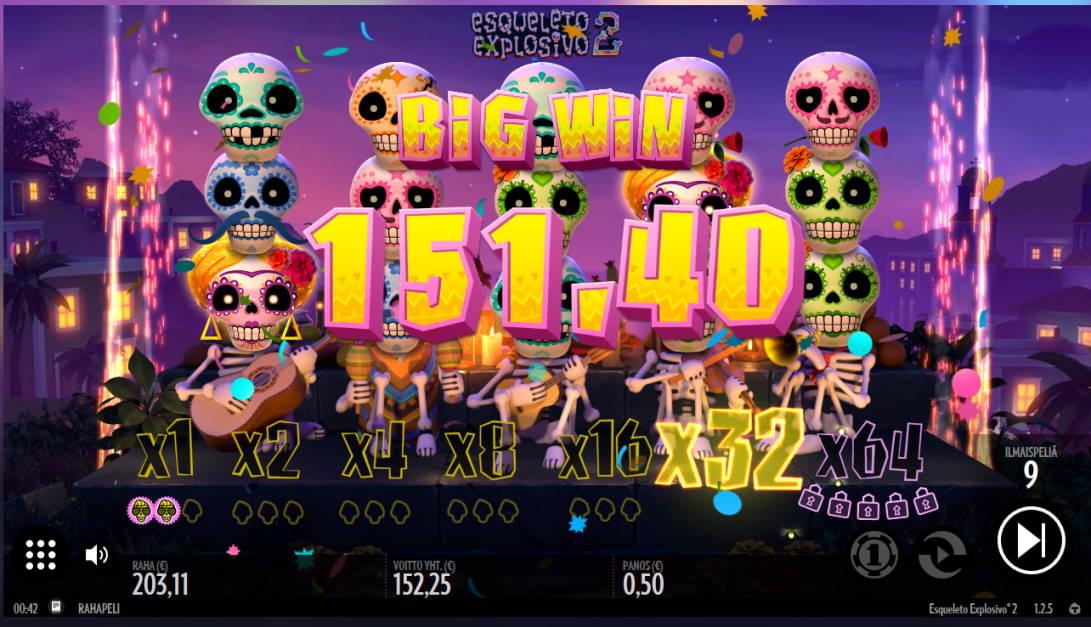 Esqueleto Explosivo 2 Casino win picture by Kari Grandi 16.4.2020 151.40e 303X
