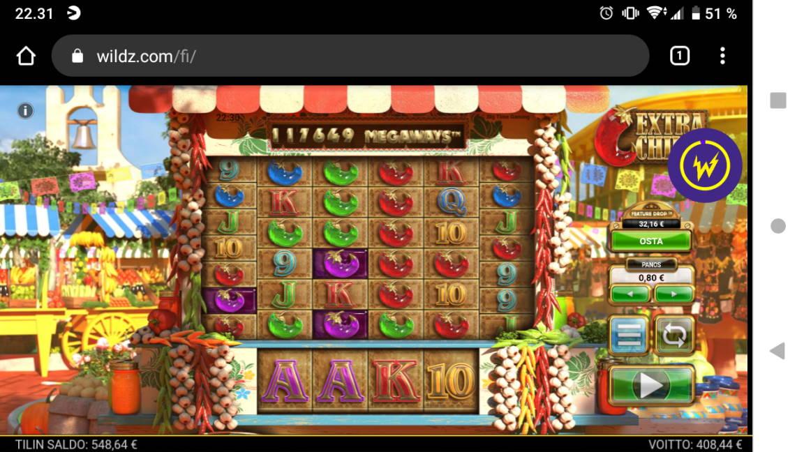 Extra Chilli Casino win picture by tiikerililja87 23.4.2020 408.44e 511X Wildz