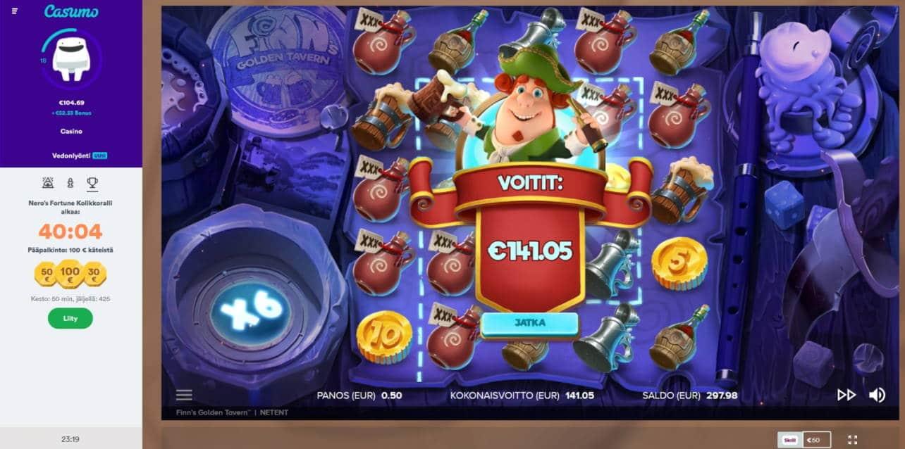 Finns Golden Tavern Casino win picture by Mrmork666 27.4.2020 141.05e 282X Casumo