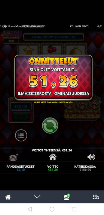 Joker Megaways Casino win picture by Hookos 14.4.2020 51.26e 513X