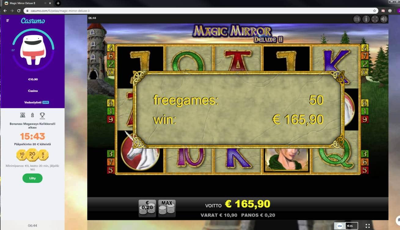 Magic Mirror Deluxe 2 Casino win picture by Banhamm 165.90e 830X Casumo