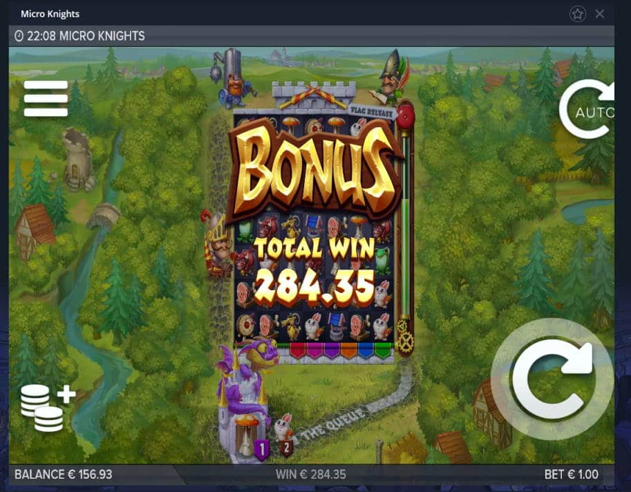 Micro Knights Casino win picture by MrMork 17.4.2020 284.35e 284X VulkanVegas