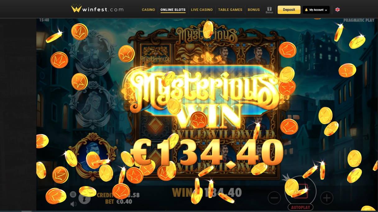 Mysterious Casino win picture by fujilwyn 29.4.2020 134.40e 336X Winfest