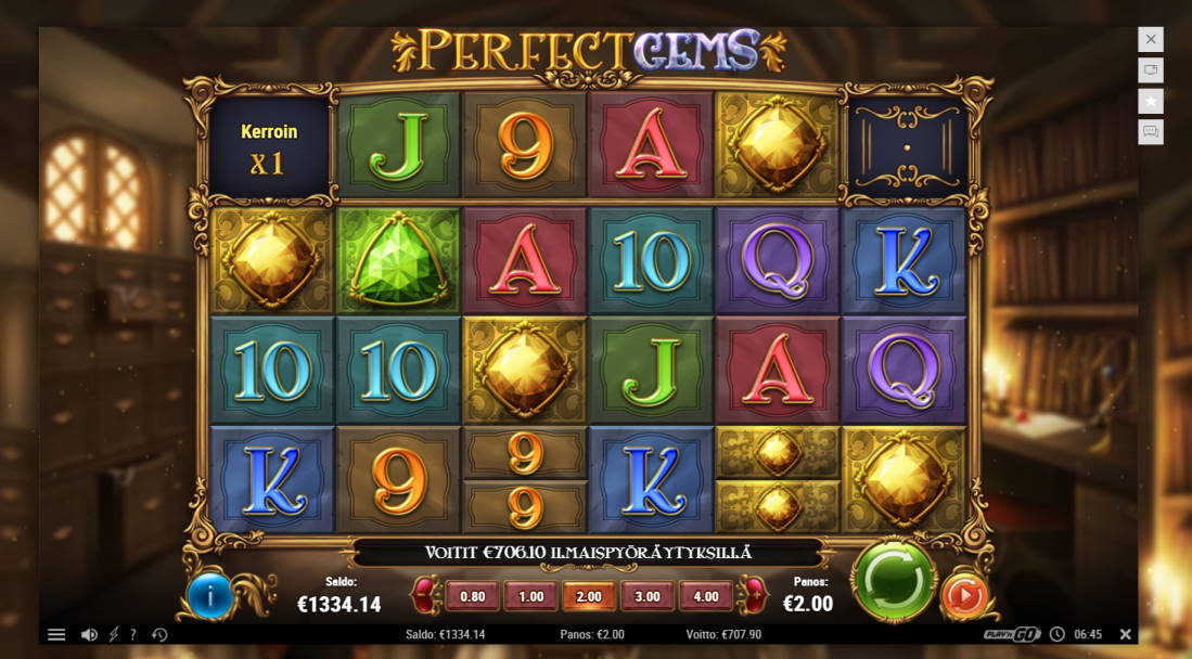 Perfect Gems Casino win picture by jiipee 14.4.2020 707.90e 354X