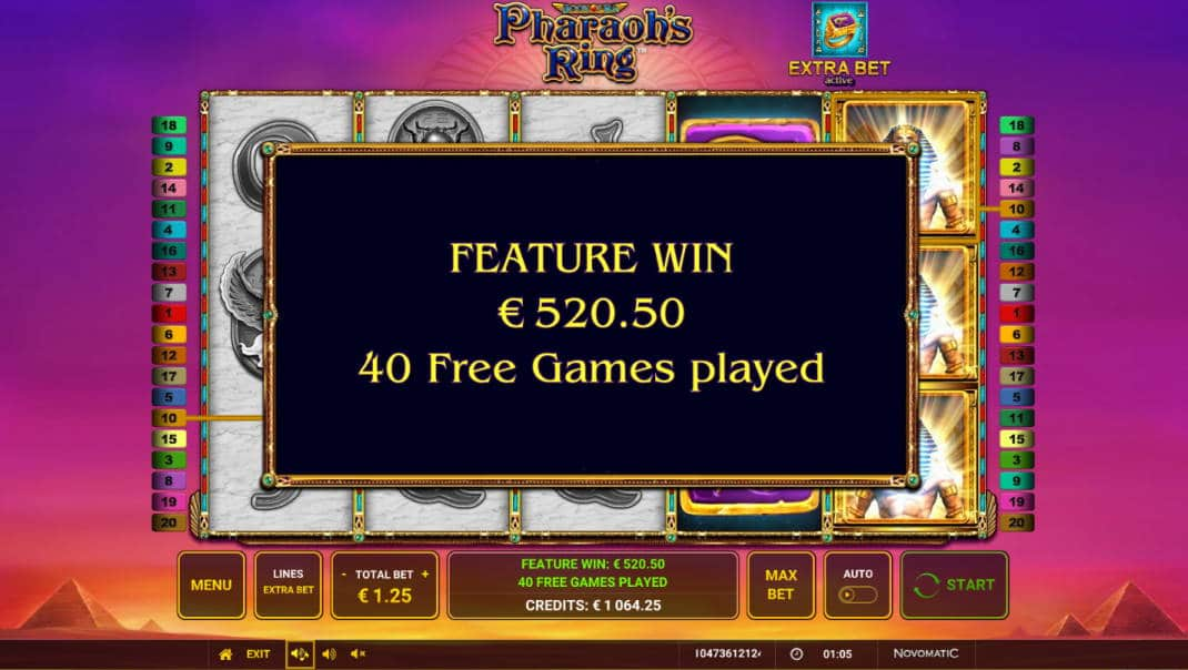 Pharaohs Ring Casino win picture by Morrimoykky 1.4.2020 520.50e 416X