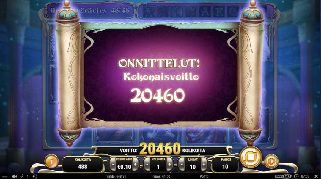 Rise of Merlin Casino win picture by Buu866 4.1.2020 2046e 2046X