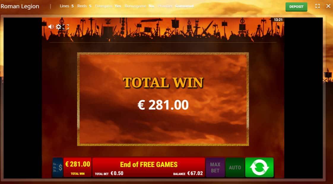 Roman Legion Casino win picture by Banhamm 281e 562X
