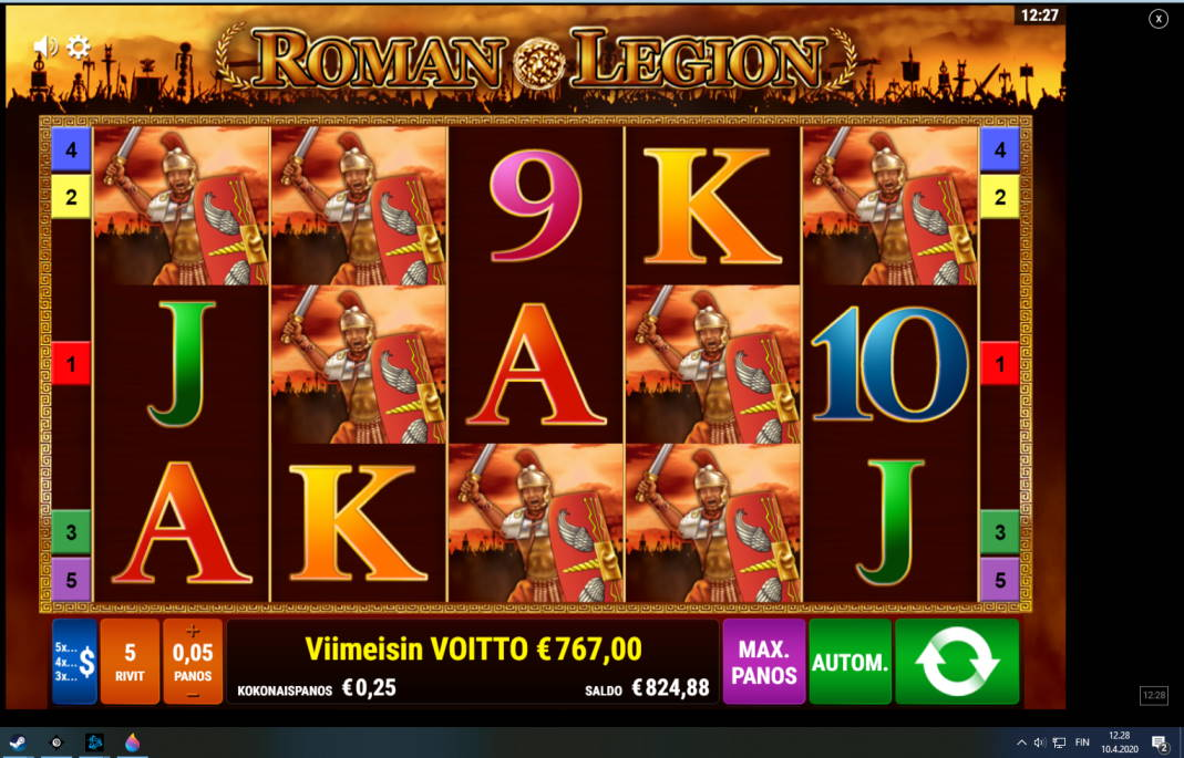 Roman Legion Casino win picture by Koninkaulus 10.4.2020 757e 3068X