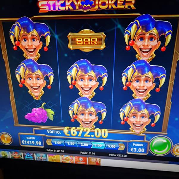 Sticky Joker Casino win picture by Jojelini 4.4.2020 672e 224X LeoVegas