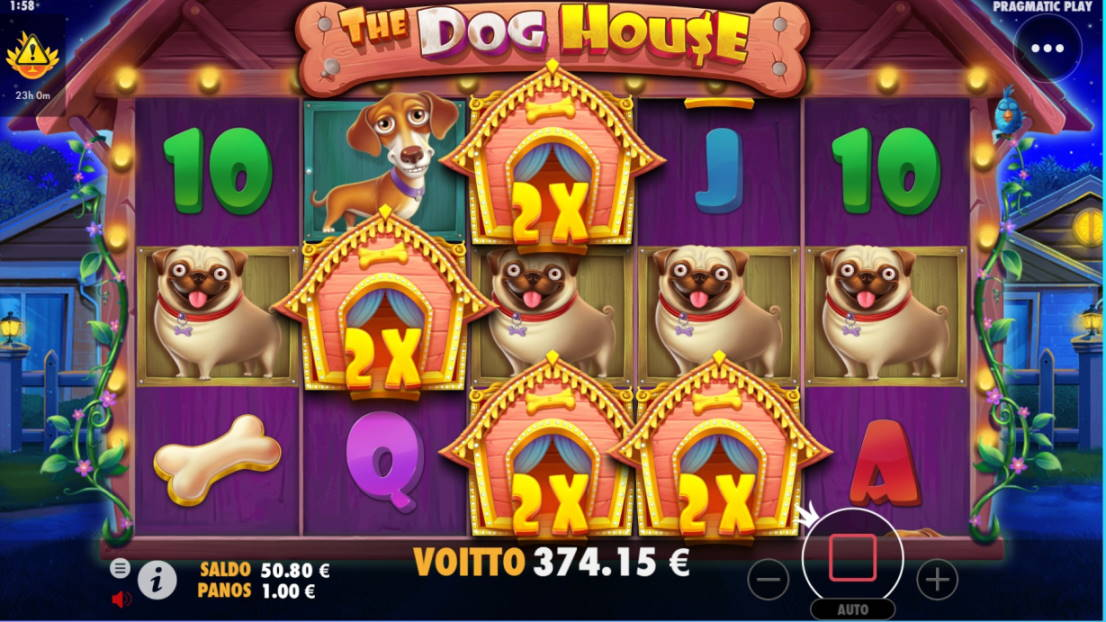 The Dog House Casino win picture by steppeni 5.4.2020 374.15e 374X