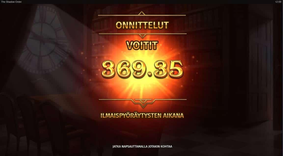 The Shadow Order Casino win picture by fujilwyn 23.4.2020 369.35e 3694X