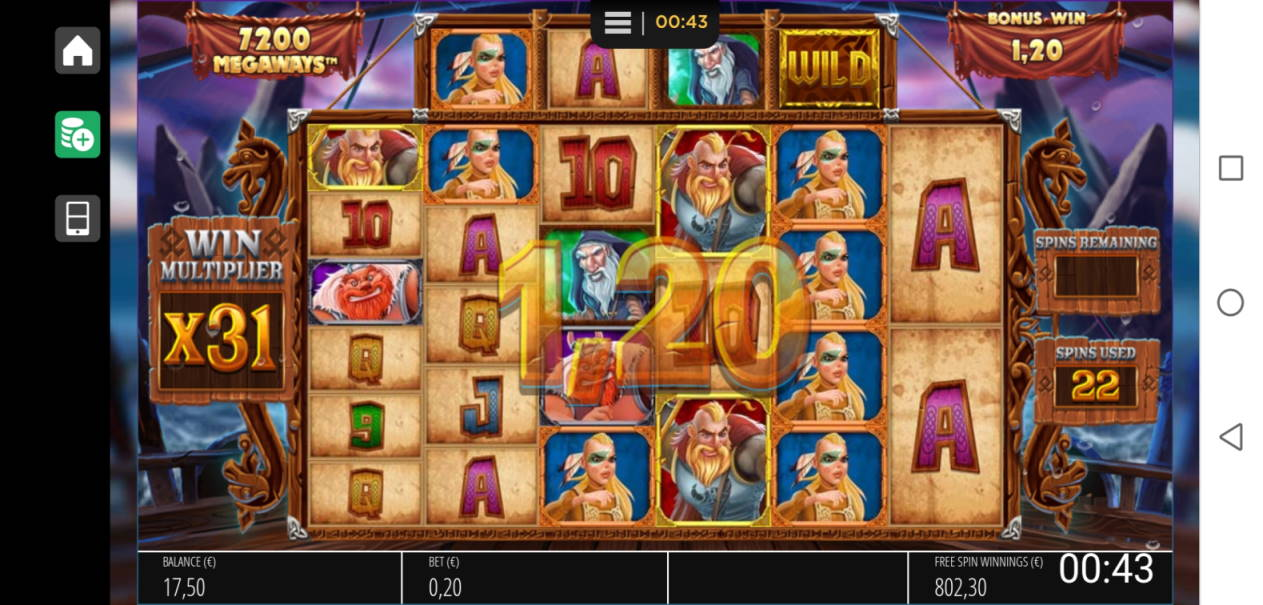 Vikings Unleashed Megaways Casino win picture by SJaN 16.4.2020 802.30e 4012X