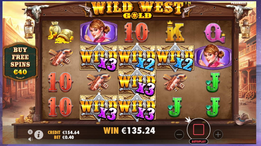 Wild West Gold Casino win picture by Mrmork666 5.4.2020 135.24e 338X Sir Jackpot