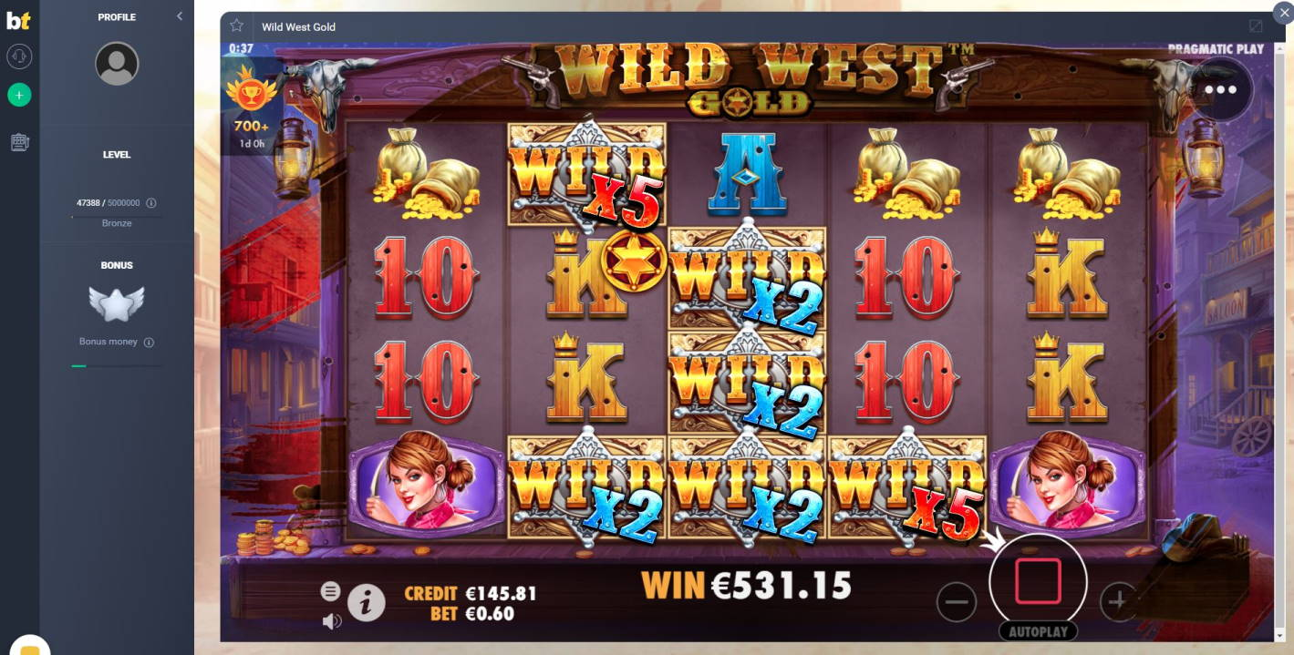 Wild West Gold Casino win picture by Sarvi 14.4.2020 531.15e 885X