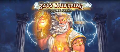 zeus lightning power reels banner