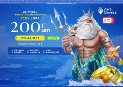 Ahti Games Casino Landing Page