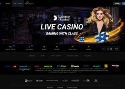 Astralbet Casino Live Casino Lobby