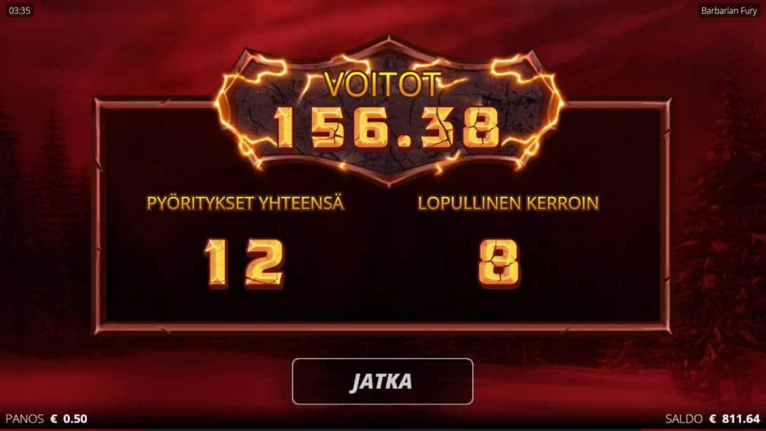 Barbarian Fury Casino win picture by Kari Grandi 3.5.2020 156.38e 313X