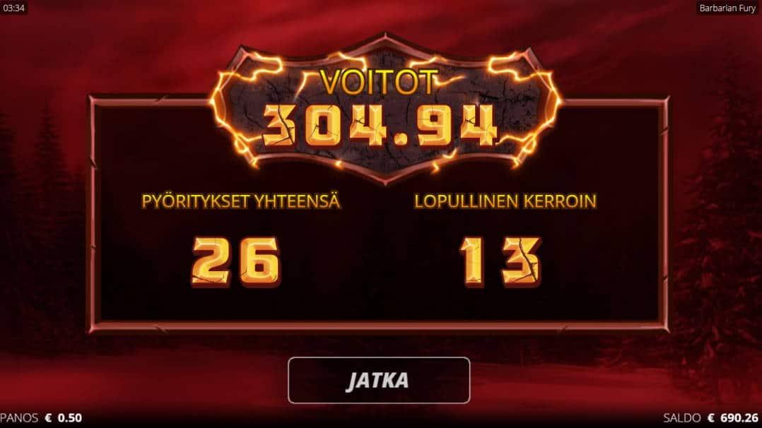 Barbarian Fury Casino win picture by Kari Grandi 3.5.2020 304.94e 610X