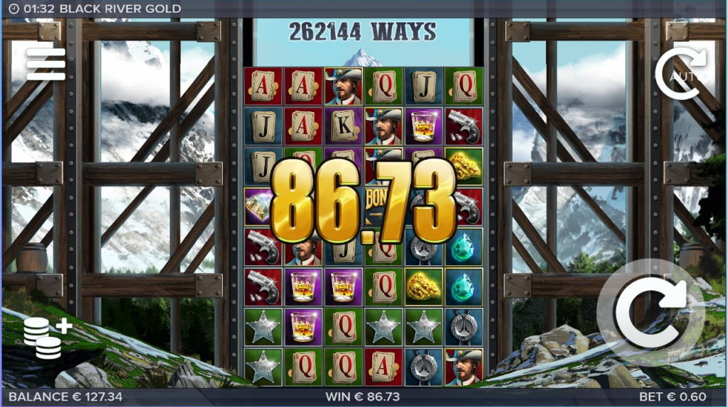Black River Gold Casino win picture by Mrmork666 5.5.2020 86.73e 145X Wildz
