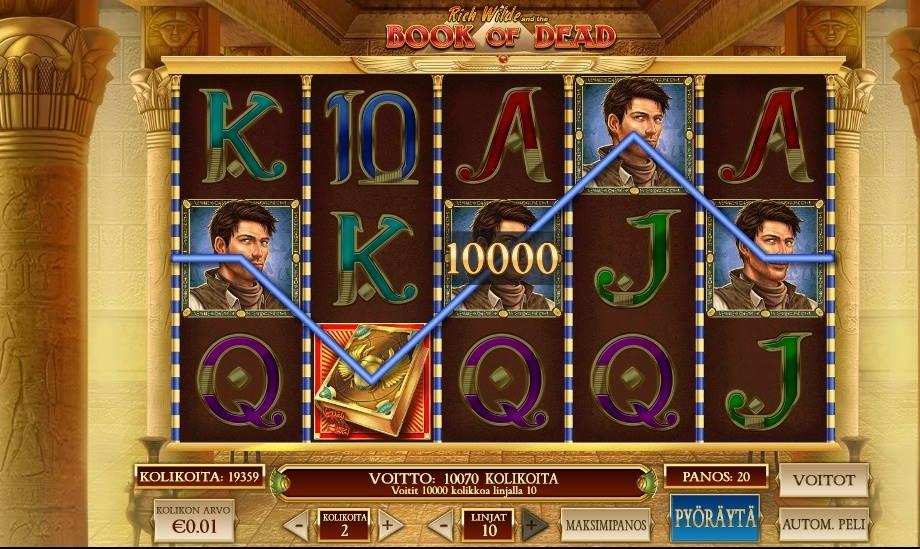 Book of Dead Casino win picture by vanhajuoppo1 24.5.2020 100e 500X