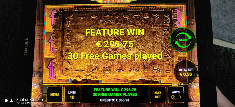 Book of Ra Magic Casino win picture by Salatheel 27.5.2020 296.75e 594X