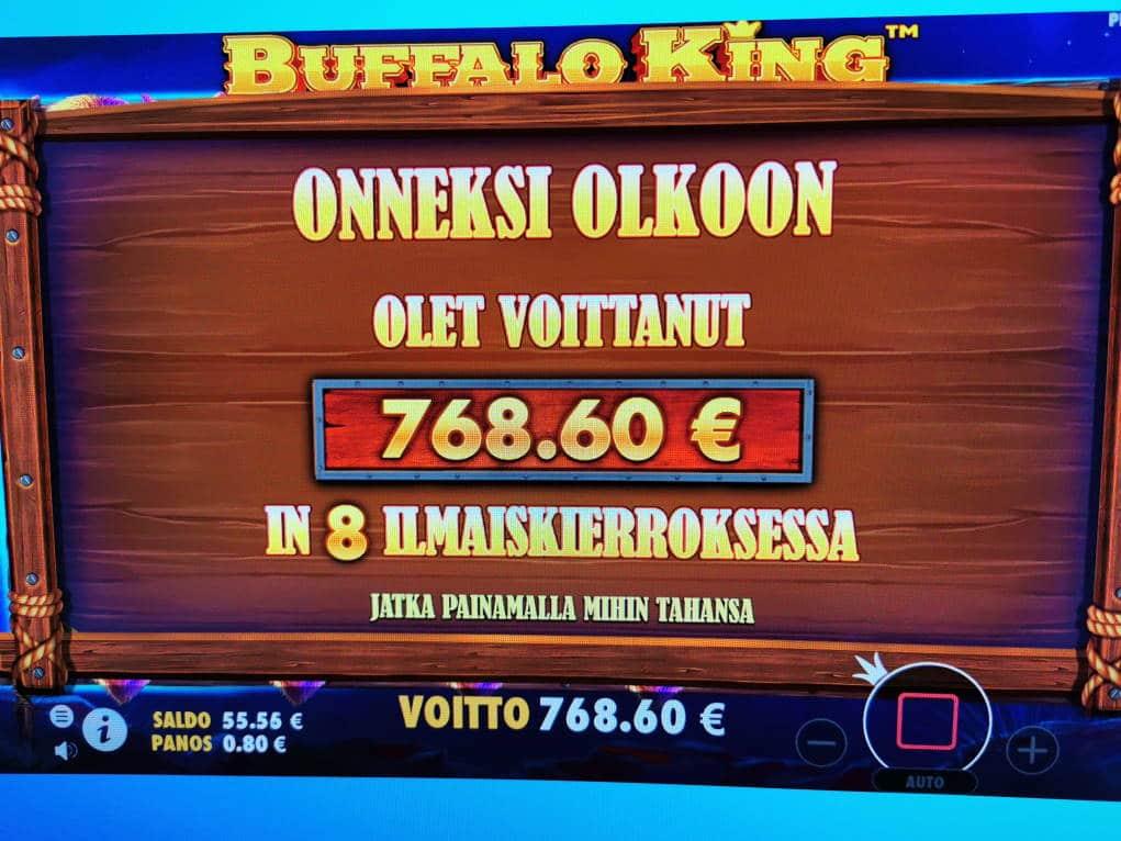 Buffalo King Casino win picture by Zero_Taps 4.5.2020 768.60e 961X