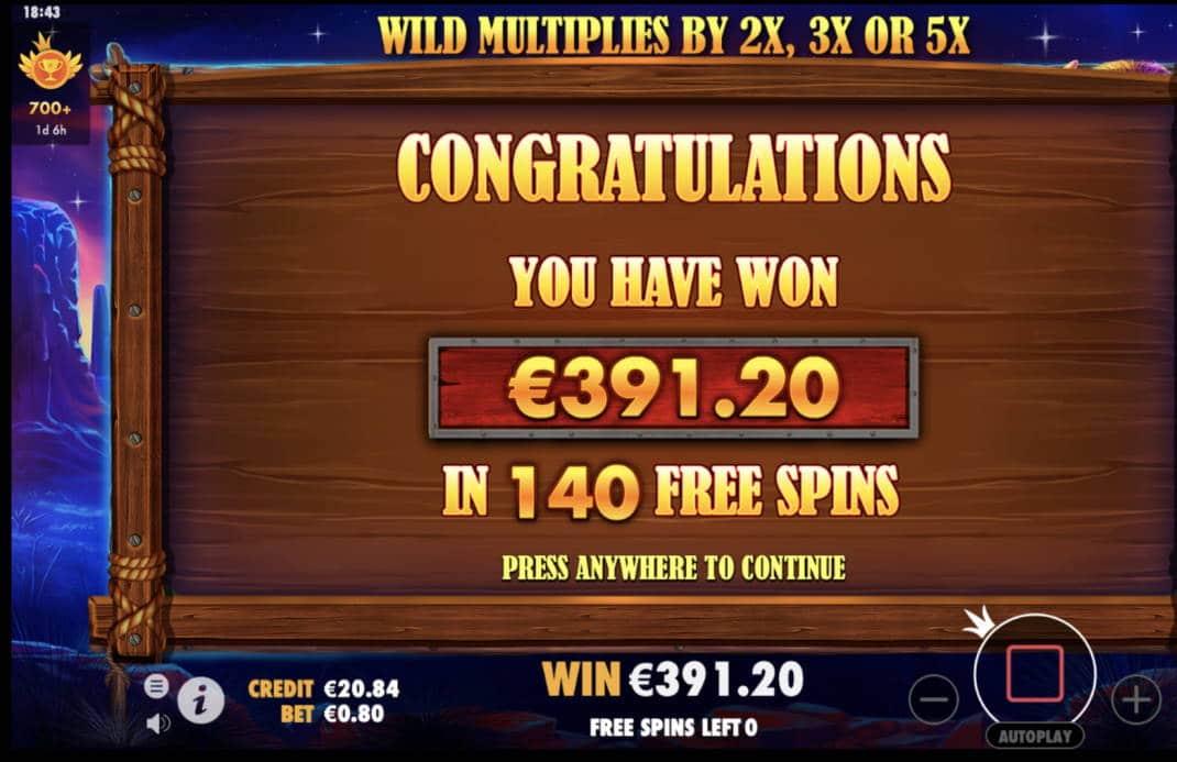 Buffalo King Casino win picture by timmir84 4.5.2020 391.20e 489X
