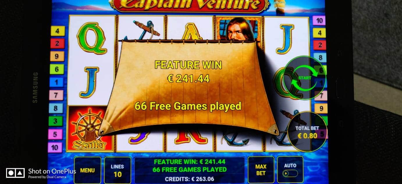 Captain Venture Casino win picture by Salatheel 27.5.2020 241.44e 302X
